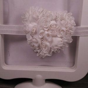 Other - Infant White heart headband